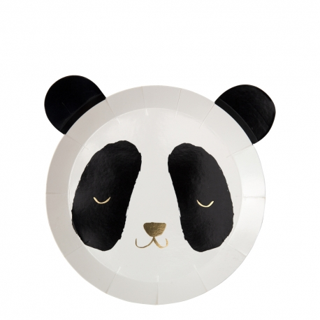 Assiette en carton anniversaire ou baptême thème panda