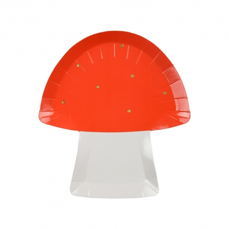 Assiette champignon pour anniversaire forêt