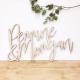 Enseigne mariage personnalisé prénoms mariés en bois