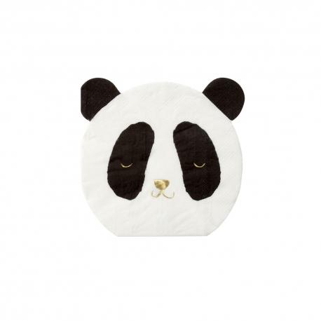 Serviette en papier panda anniversaire ou baptême