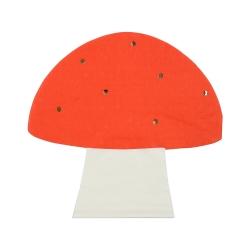 Serviette champignon anniversaire ou baptême thème forêt