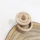 Boîte à alliances personnalisée en bois mariage automnal