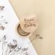 Boîte à alliances personnalisée en bois modèle calligraphie