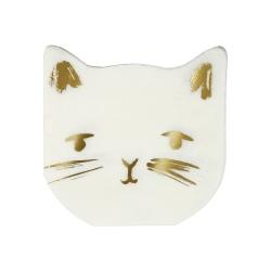 Serviette chat vaisselle jetable pour anniversaire