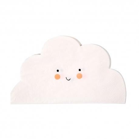 Serviette en papier nuage anniversaire ou baptême