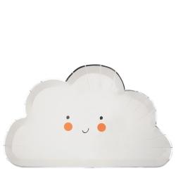 Grande assiette nuage anniversaire ou baptême
