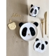 Vaisselle en carton panda anniversaire ou baptême
