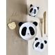 Vaisselle en carton anniversaire thème panda