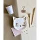 Vaisselle en carton anniversaire thème chat
