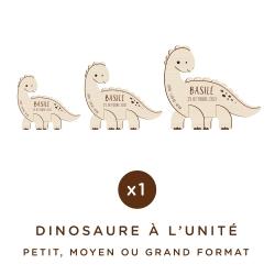 Dinosaure en bois personnalisé avec prénom et date