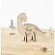 Décoration en bois pour chambre d'enfant en forme de dinosaure