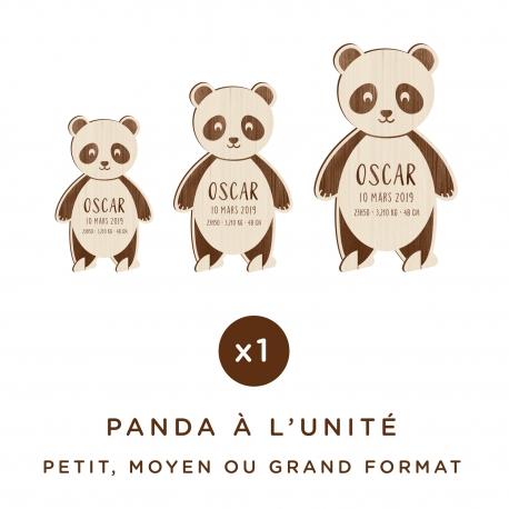 Panda en bois personnalisé avec prénom et date