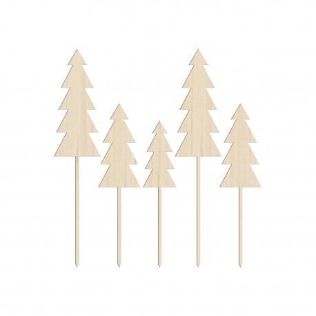 Cake toppers sapins thème forêt ou pour Noël