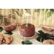 Cake topper dino party personnalisé