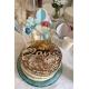 Cake topper en bois âge anniversaire