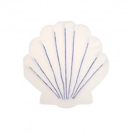 Serviette coquillage décoration anniversaire enfant thème marin