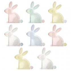 Assiette carton en forme de lapin anniversaire ou baptême