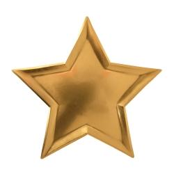 Assiette en forme d'étoile dorée