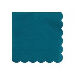 Serviette festonnée bleu vert