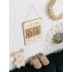 Carte étapes bébé personnalisée modèle en bois calendrier