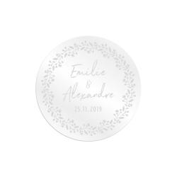Dessous de verre personnalisé mariage, cadeaux d'invités originaux et uniques