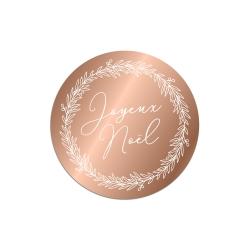 Dessous de verre plexiglas miroir rose gold, décoration table de Noël