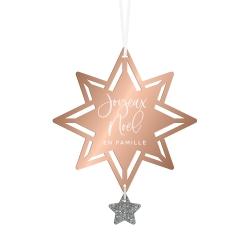 Boule de Noël originale en forme d'étoiles