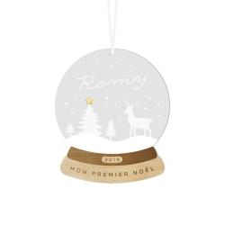 Boule de Noël personnalisée modèle boule de neige