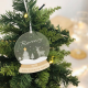 Boule à neige décoration de Noël personnalisée