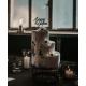Cake topper mariage personnalisé en plexiglas noir nude cake