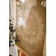 Panneau de bienvenue mariage en plexiglas transparent couronne de fleurs