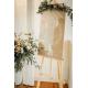 Panneau mariage personnalisé couronne fleurie