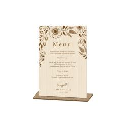Présentoir menu fleuri