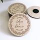 Magnets mariage personnalisés en bois cadeaux d'invités