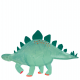 Plateau stégosaure anniversaire dinosaure