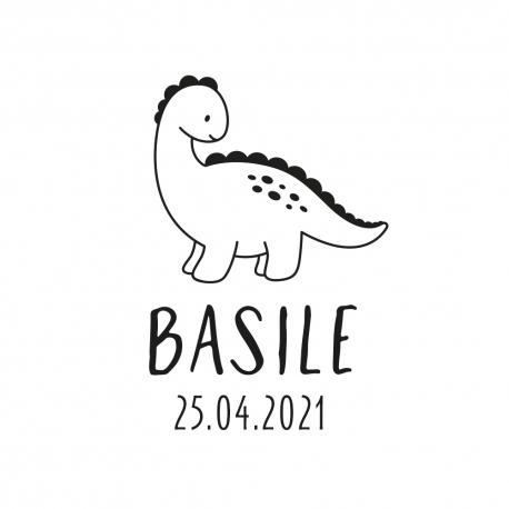 Tampon naissance personnalisé original dinosaure