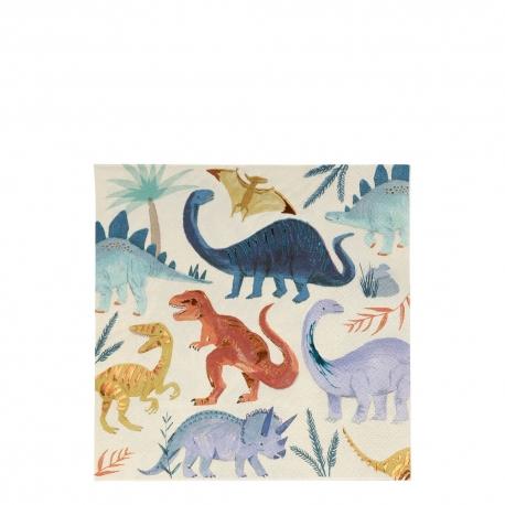 Serviette papier anniversaire thème dinosaures