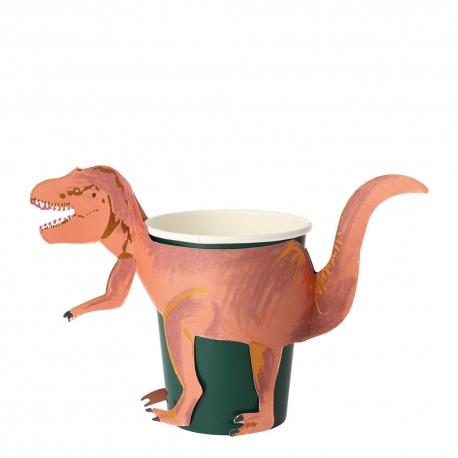Gobelet en carton T-Rex anniversaire thème dinosaure