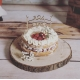 Anniversaire forêt, cake topper original personnalisé en bois