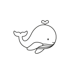 Tampon encreur baleine thème marin