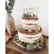 Cake topper personnalisé anniversaire thème forêt