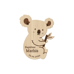 Magnet en bois koala
