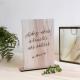 Panneau en bois personnalisée pour urne mariage