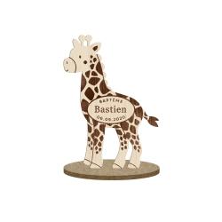 Marque-place girafe à personnaliser, cadeaux originaux thème savane