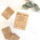 Magnet calendrier en bois save the date mariage