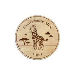Dessous de verre personnalisé girafe cadeaux d'invités anniversaire