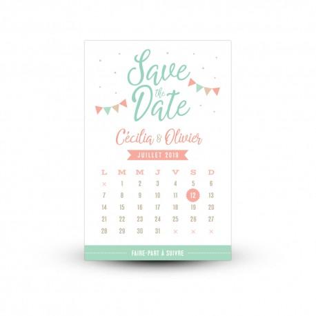 Save the date original personnalisé mariage guinguette