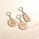 Porte-clés en bois personnalisé témoin de mariage