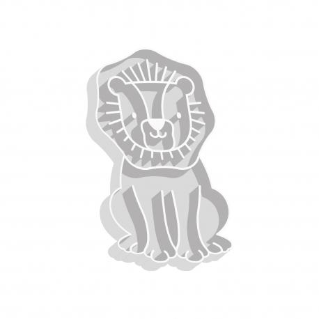 Emporte-pièce lion pour thème savane