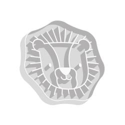 Emporte-pièce à biscuits tête de lion thème savane